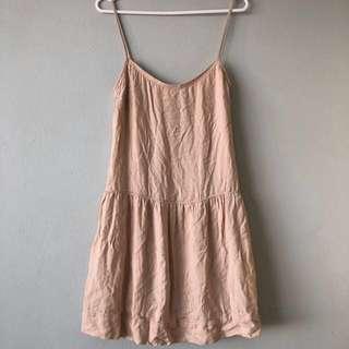 MNG crepe nude dress (AU S)