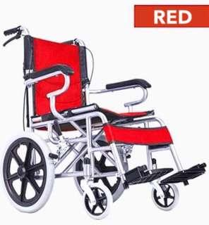 Wheelchair Red With FOLDABLE handles