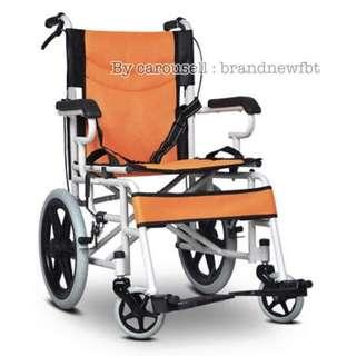 Wheelchair Orange Color with Foldable handle easy storage