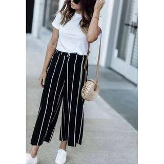 Black N White Stripes Terno Cotton