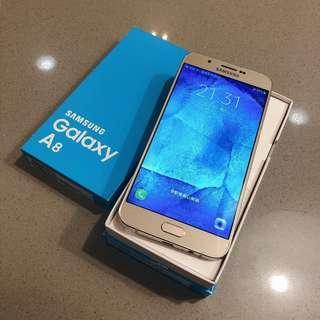 second hand Samsung A8 (5.5)  gold  2G RAM 32G ROM