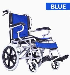 Wheelchair Blue with FOLDABLE HANDLE TO FIT CARS
