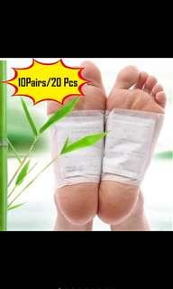 10 pair(20pcs)Good detox foot pads patch detoxify toxin adhesive keeping fix health care