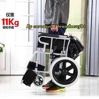 Wheelchair Black with FOLDABLE HANDLE for easy car storage