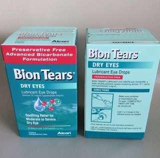 2 Bion Tears Lubricant Dry Eyes Drop