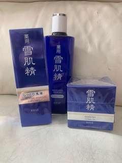雪肌精化妝水,乳液,Herbal Gel (全新)