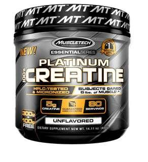 Muscletech 肌酸粉 100% Platium Creatine 肌肉增長