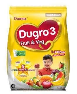 3pcs Dugro fruits &vege 1-3 tahun
