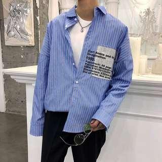韓版直紋恤衫