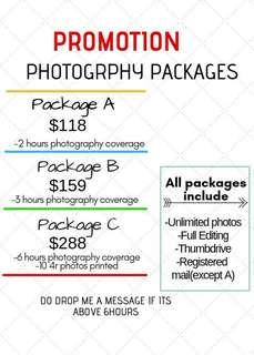 [PROMO]🎉Photography Services
