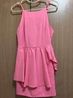 brand new the editors market pink overlap dress
