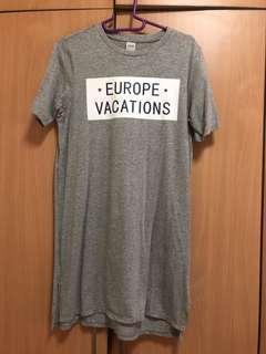brand new yishion grey oversized t shirt dress