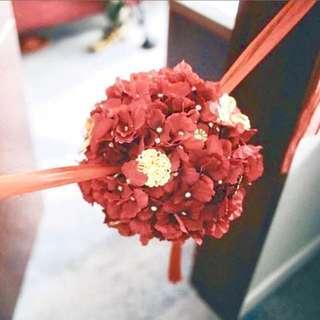 Kaedi 手造攔門花球