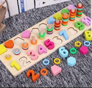 🚚 數字數圈圈認識顏色形狀益智玩具