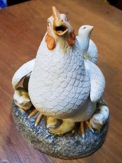 旧瓷,母鸡和小鸡,高14cm*Items Sold Are Non-Returnable & Refundable🙂