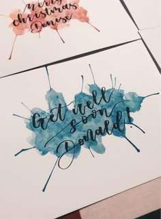Customisable Calligraphy Cards