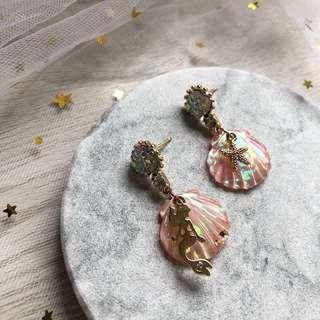 🚚 Ariel Shell Earrings