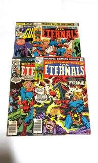 4x MARVEL COMICS BRONZE AGE ETERNALS & GUARDIANS OF THE GALAXY