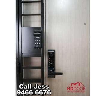 HDDoor the Mild steel gate with main door digital lock install