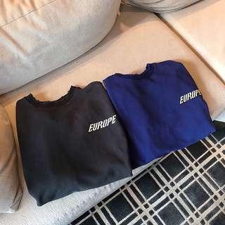 簡潔字母衛衣