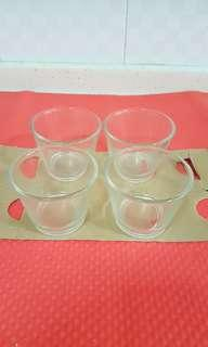 Ikea 4 pieces candle holder