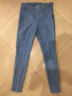 H&M High Waisted Denim Pants