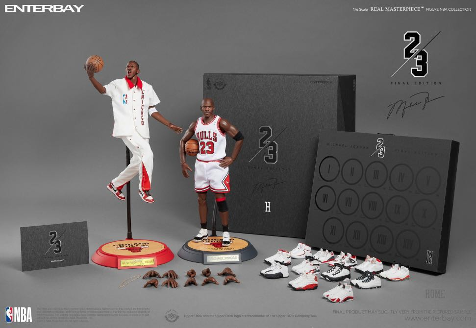 aa71424d63a 1 6 Real Masterpiece -NBA Collection Michael Jordan Action Figure ...
