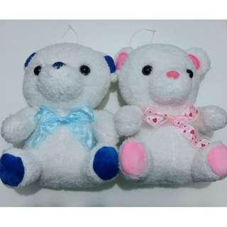 白雪熊寶寶 White Snow Bears (一對) white teddy bear
