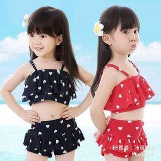 預購7~14天到貨/女童兩件式泳裝