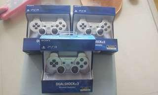 🚚 New set of Silver Wireless Controller for PS3, Playstation
