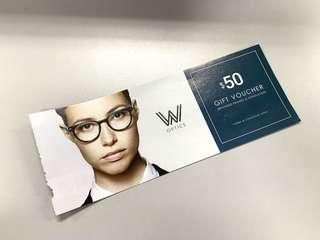 W Optics $50 Voucher - Branded Frames