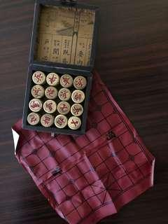 Antique look Chinese chess