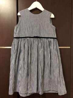 Pre-loved used once checkered blue and white dress