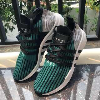 Original Adidas EQT Support MID ADV Pk Black-Subgreen 70c4b857aa