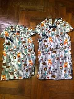 Cny girl cheongsam dress for sale size 80 and 90 - suitable for 1.5y to 3y