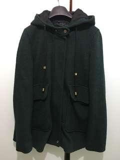 Zara Coat 墨綠色大褸