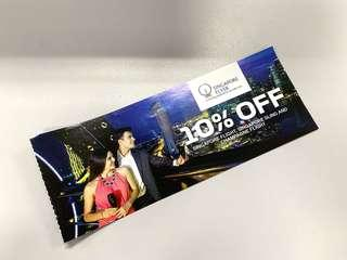 Singapore Flyer 10% Discounts - Maximum 4 Tickets