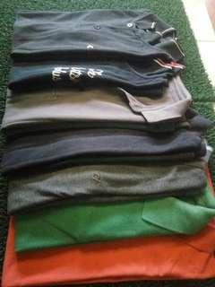 Polo shirt/kaos kerah (Uniqlo, GAP, CF)