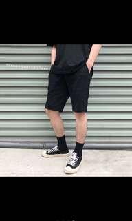 條紋彈性短褲