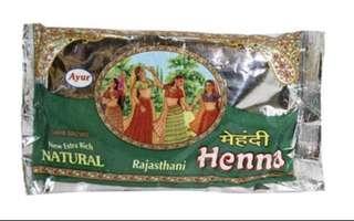 印度henna 天然染髮粉深啡色200g