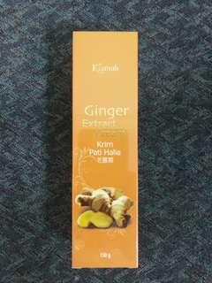 Ginger extract cream