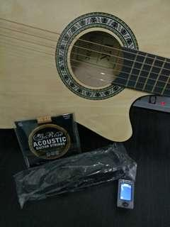 """Acoustic Guitar 38"""" + FREE GIFTS"""