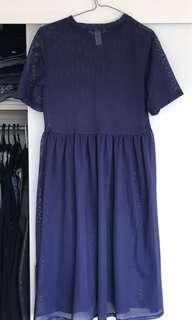 Mesh blue dress M