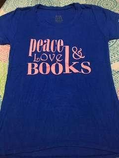 Php 50 Peace Love & Books Shirt