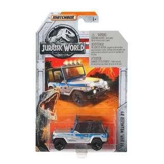 Jurassic World Matchbox 93 Jeep Wrangler Diecast Vehicle