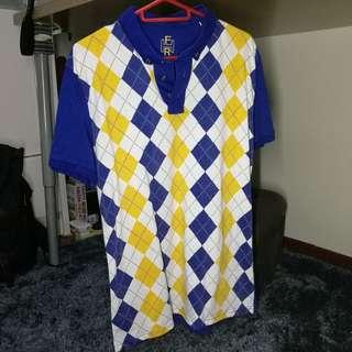 * Blue and yellow polo shirt by fahrenheit