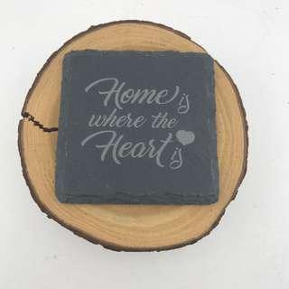 🚚 Laser Engraved Square Slate Coaster