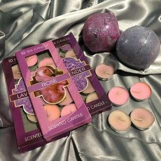 RnR bathbombs and scented candles