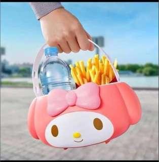 McDonald's My Melody Food Bucket Car Holder