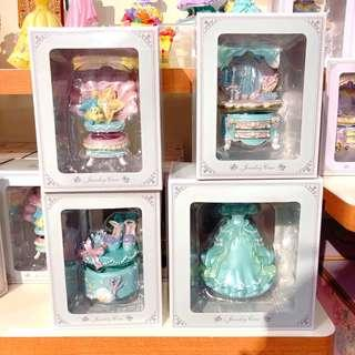 tokyo disney美人魚ariel飾物盒擺設1set
